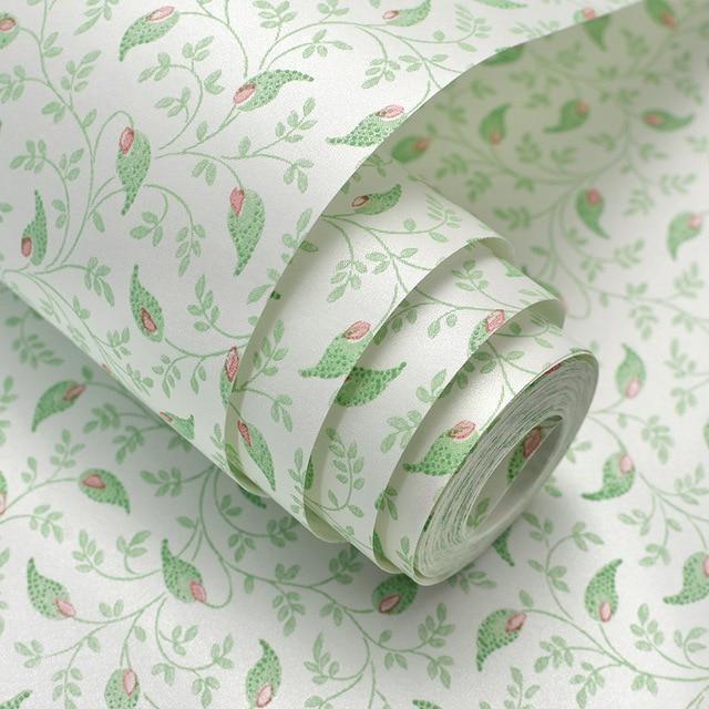 Pvc Vert Feuille Papier Peint Chambre Enfant Insonorisé Papier Peint  Chinois Vert Feuille Salon Papier Peint