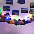 Home Decor DIY Wall Paper Photo Frame Photo Hanging Clip String LED Lights 6 Colors R20