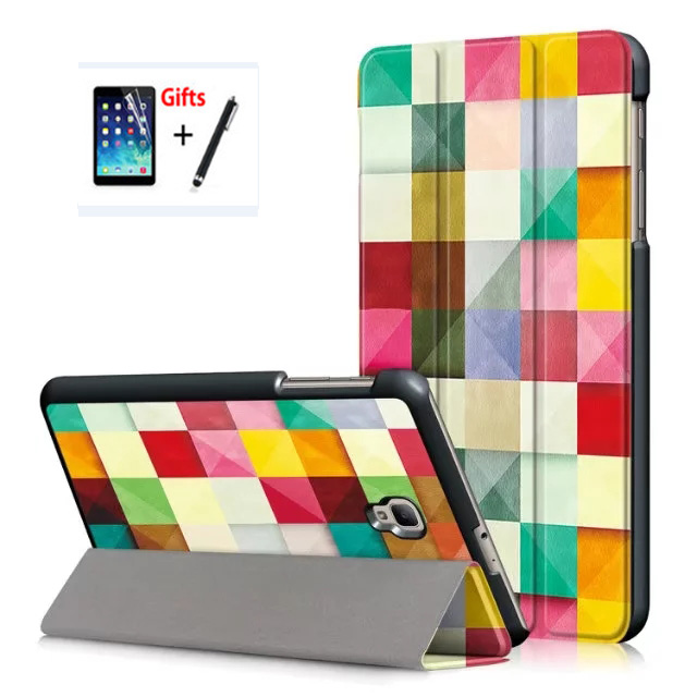 3 In 1 PU Leather Cover Case For Samsung Galaxy Tab A 8.0 2017 T380 T385 SM-T380 SM-T385 8