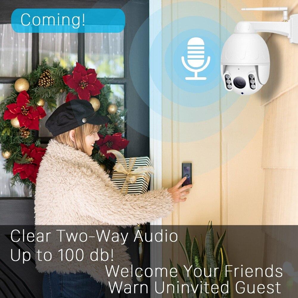 INQMEGA 1080P PTZ  Dome Camera Human Tracking Outdoor Wireless Wifi Camera IP66 Waterproof Two way Audio 50M Night Vision Wirele