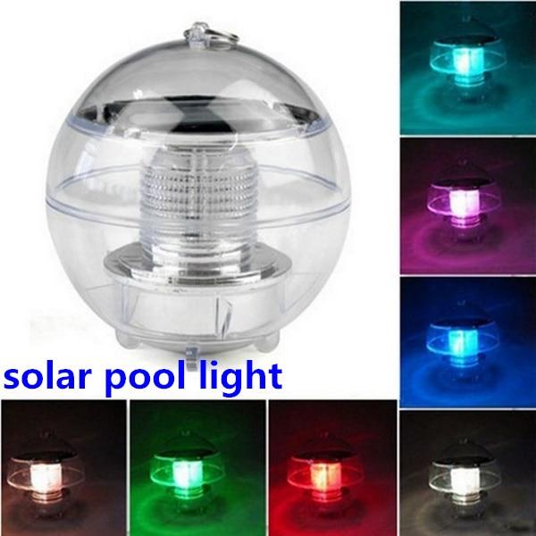4pcs new solar water pool light waterproof solar LED water folating lamp garden path lamp landscape ball lights outdoor