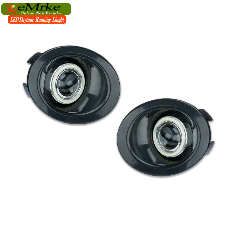 EEMRKE Car Styling COB Angel Eyes Fog DRL Daytime Running Lights For Land Rover Freelander 2 LR2 Head Light 55W H11 12V