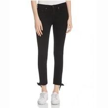 Women Slim Pencil Demin Pants Ankle-Length Skinny Legging Open Lace-Up Women Pencil Jeans