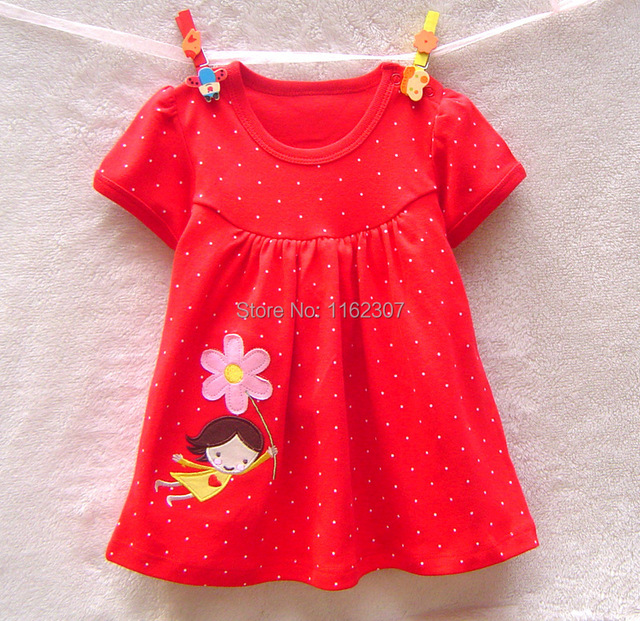 Free shipping summer baby dress high quality cotton summer dress children baby dress