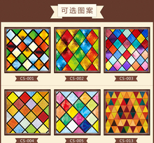 Custom electrostatic stained glass window film, new styles PVC self-adhesive films,frosted church home foil stickers