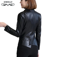 Большие размеры Для женщин костюм воротник натуральной кожи куртка Chaqueta mujer Топ куртка бомбер из натуральной кожи черная куртка пальто женщ