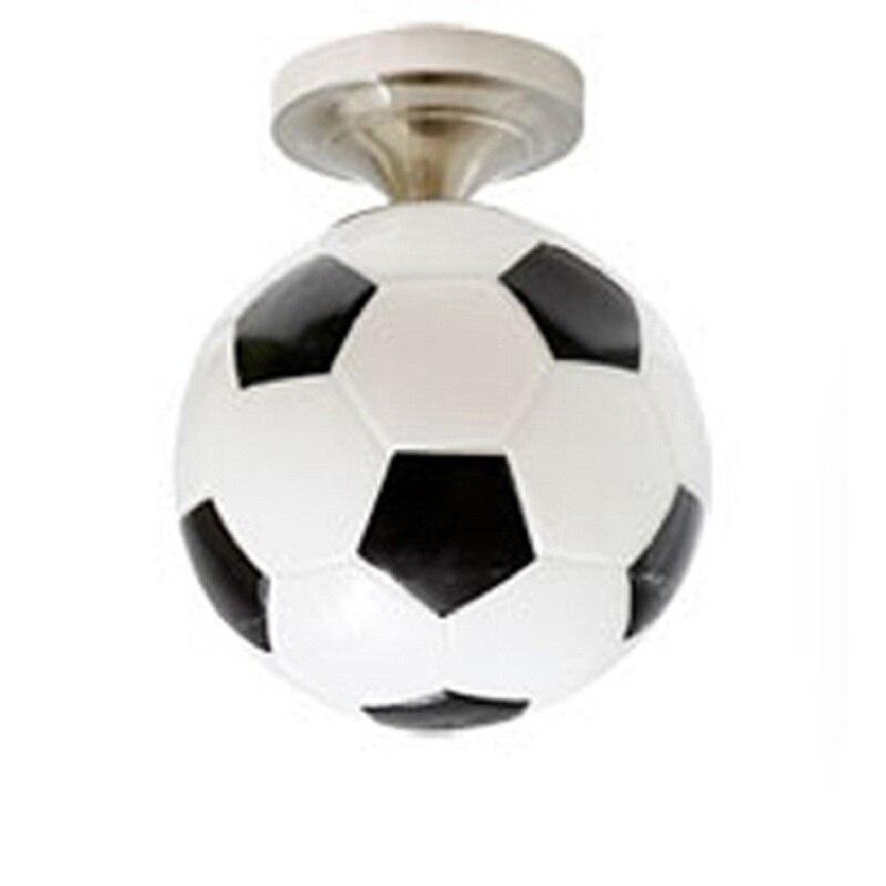 Soccer Ball Children Room Glass Led Ceiling Light Football