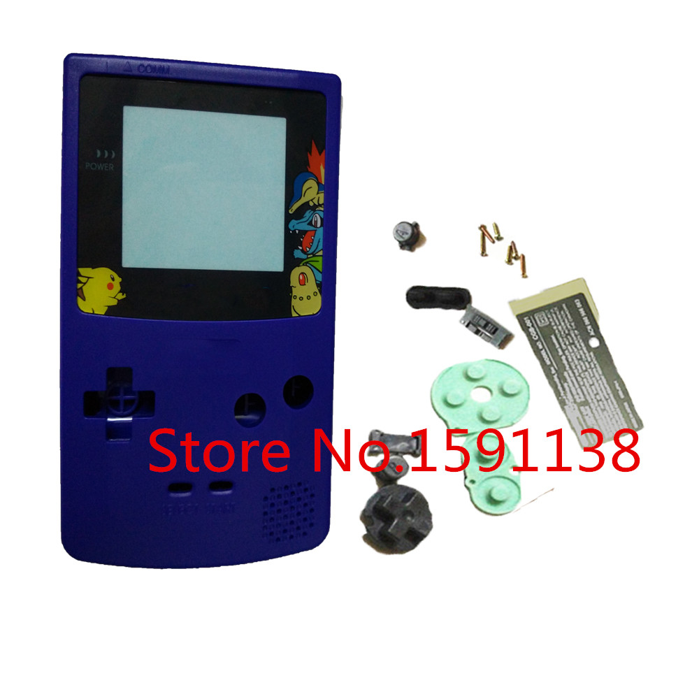 Game boy color online games - Hot Blue Color Housing Shell Case Replace Cover For Gbc Gameboy Color Console For Pocket Version