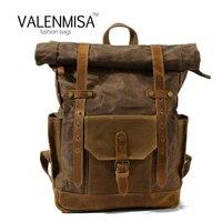 New Vintage Rucksack Canvas Backpack Leisure Travel Schoolbag Unisex Laptop Backpacks Men Backpack Male Hydration Backpack