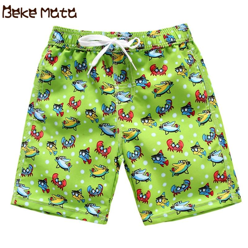 Swimming Trunks For Boy Summer Kids Boards Shorts Cartoon Fish Print Child Swimwear Bathing Shorts Children Swimsuits 3-14 Year