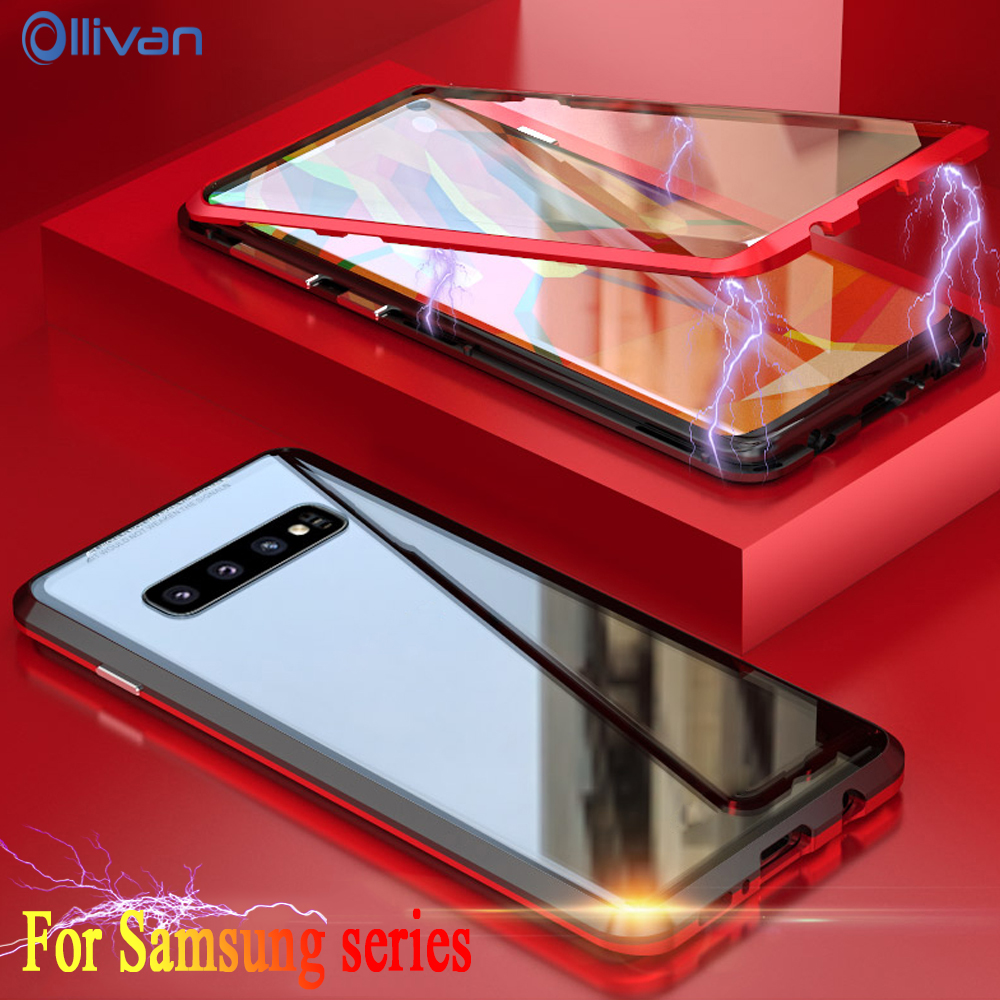 360 Magnetic Double Tempered Glass Case For Samsung Galaxy A50 Note 8 9 Metal Aluminum Frame Cover For Samsung S10 S9 S8 Plus360 Magnetic Double Tempered Glass Case For Samsung Galaxy A50 Note 8 9 Metal Aluminum Frame Cover For Samsung S10 S9 S8 Plus