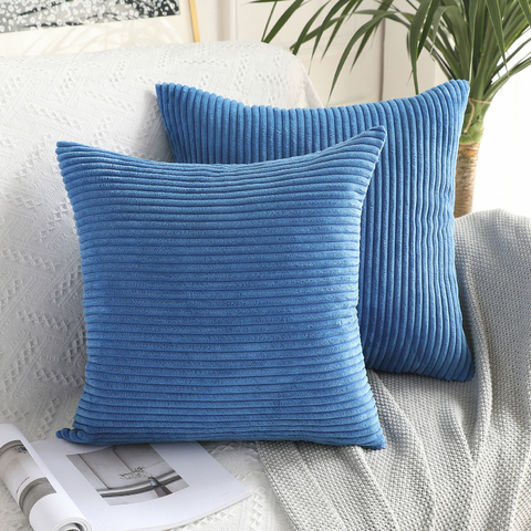 Soft Soild Decorative Square Throw Pillow Covers Set Cushion Cases Comfortable Corduroy Pillowcases for Sofa Bedroom Car Islamabad