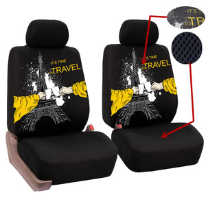Image 3 - O SHI CAR 2 pcs Lion print front seat cover Universal personality car covers Protective seats Automotive interior decoration