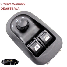 YAOPEI For Peugeot 206 Electric Window Regulator Shift key Driver side Press Button 6554.WA 6554WA