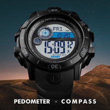 цены на SKMEI Men Watch Calorie Pedometer Sport Watches Luxury Compass Distance Digital Wristwatches Men's Military Bracelet Clock 1480  в интернет-магазинах