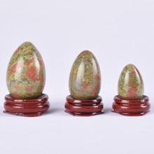 3 pcs Unakite Egg Set Undrill Crystal Quartz Natural Stone Eggs Mineral Ball Kegel Exercise Pelvic Floor Muscle Vagina Woman