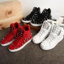 Новинка года; Мужская обувь для шоу; мужские туфли в стиле хип-хоп; повседневная обувь в европейском стиле с заклепками; Танцевальная обувь для сцены; Размеры 35-44