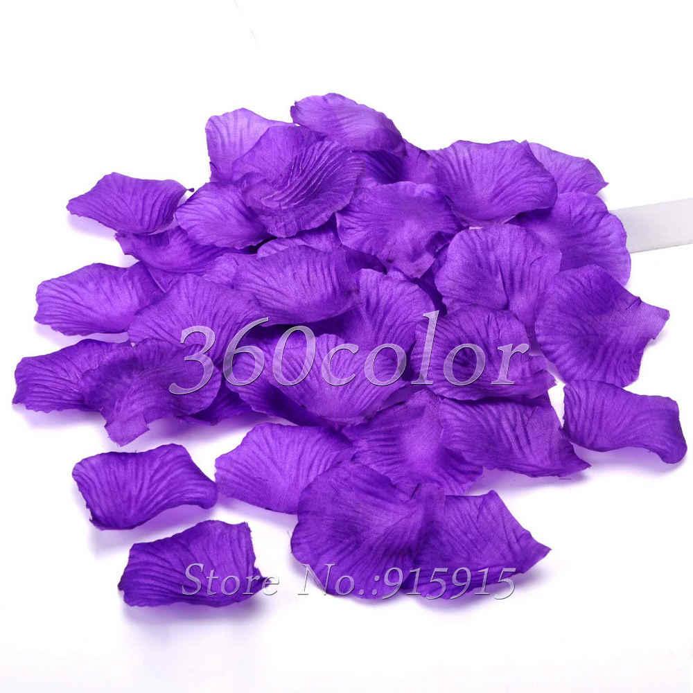 100ชิ้น/ล็อตสีม่วงผ้าไหมกลีบกุหลาบดอกไม้ฉลองจัดเลี้ยงงานแต่งงานตกแต่งหลายสีขายร้อน