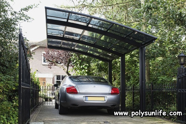 Sun Life Single Aluminum Carport with Polycarbonate Roof Outdoor Car Shelter Garage DIY Gazebo & Sun Life Single Aluminum Carport with Polycarbonate Roof Outdoor ...