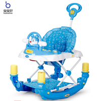 Baby Walker Multifunction with Music Variable Rocking Horse Stroller Child Anti rollover Children's Walker