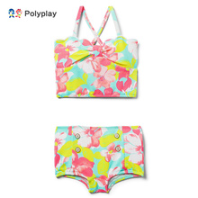 2019 new girls two-piece swimsuit with childrens resort vest