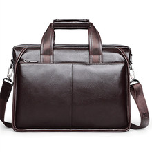 2019 New and Real Leather vintage men's messenger bag