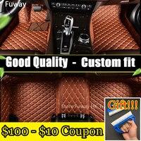Custom car floor mats for Volkswagen All Models vw passat b5 6 polo golf tiguan jetta touran touareg car styling floor mat