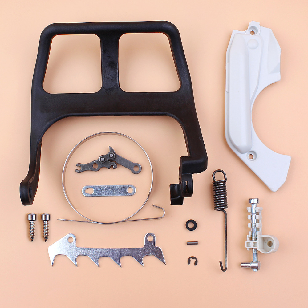 Brake Cover Handle Guide Tensioner Adjuster Repair Kit For STIHL 017 018 MS170 MS180 Chainsaw Replacement Parts