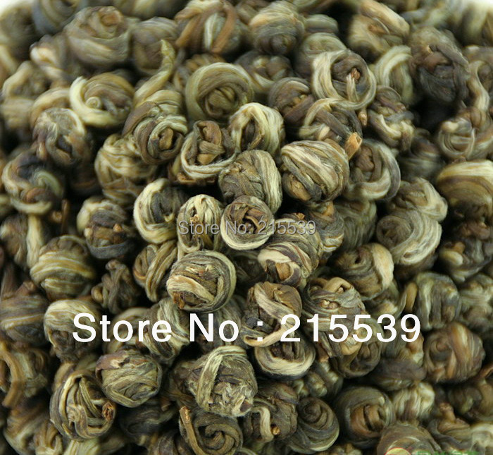 [GRANDNESS] 500g, 2015 Fresh New Organic Premium China Jasmine Dragon Pearl Fragrance GREEN TEA Jasmine Pearl Tea 2*250g 1000g jasmine pearl tea fragrance green tea free shipping