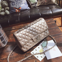 Fashion pu leather shoulder bag women casual hasp diamond lattice ringer chain Lady bag Leisure Ladies messenger bag louis gg cc