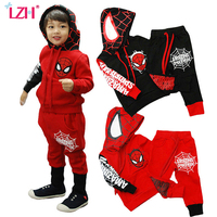 Spiderman Children Boys Clothing Set Baby Boy Spider Man Sports Suits 2 6 Years Kids 2pcs