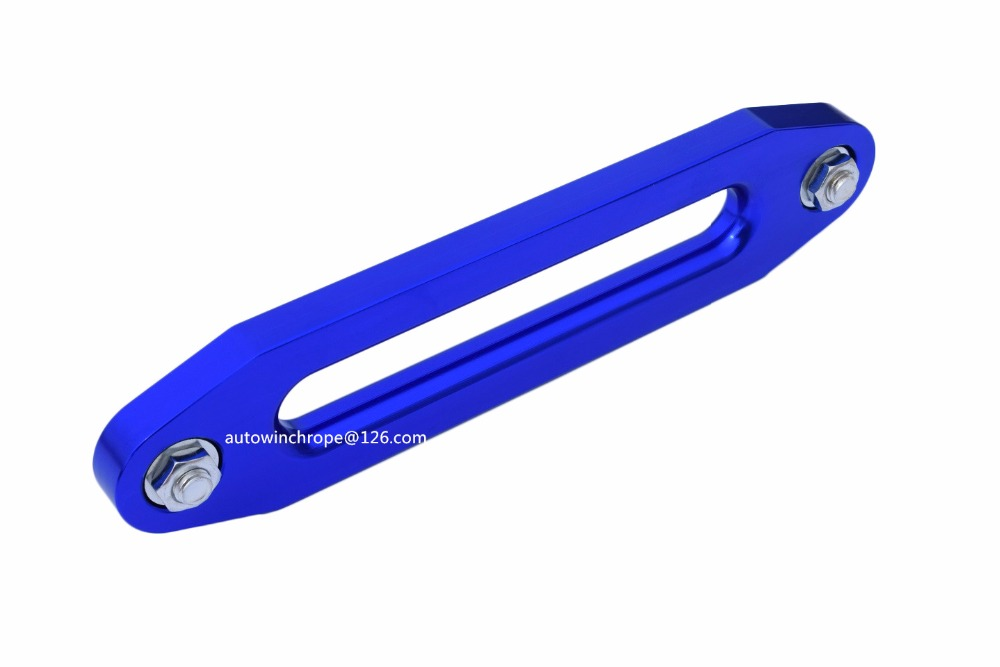 Blue 10 Mount 12000lbs Hawse Fairlead for Steel Cable,Aluminum Fairlead for Plasma Rope,Winch Rope Guide