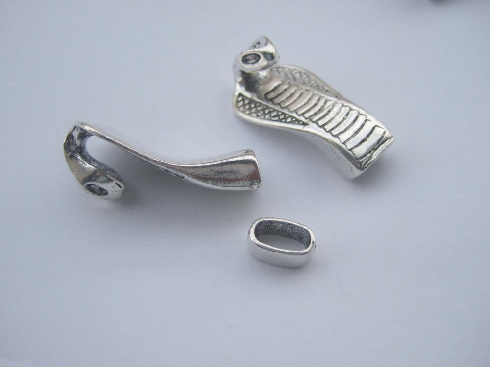 Necklace Antique Silver Necklace Snake Clasp Snake Head Clasp for Bracelet