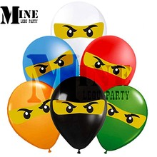 50 stuks 12inch Latex Ballon Ninja Party Deco Home Deco Supplies, kind Ninja Thema Verjaardag Ballon Set,(China)
