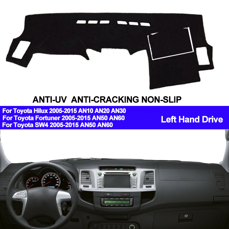 TAIJS Car Dashboard Cover Dash Mat For Toyota Hilux SW4 Fortuner 2005 2010 2011 2012 2013