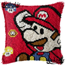 Kait Karpet Bantal Kit Kartun Dihitung Cross Stitch Kit Untuk Bordir Karpet DIY Menjahit Bantal Patchwork Sarung Bantal(China)