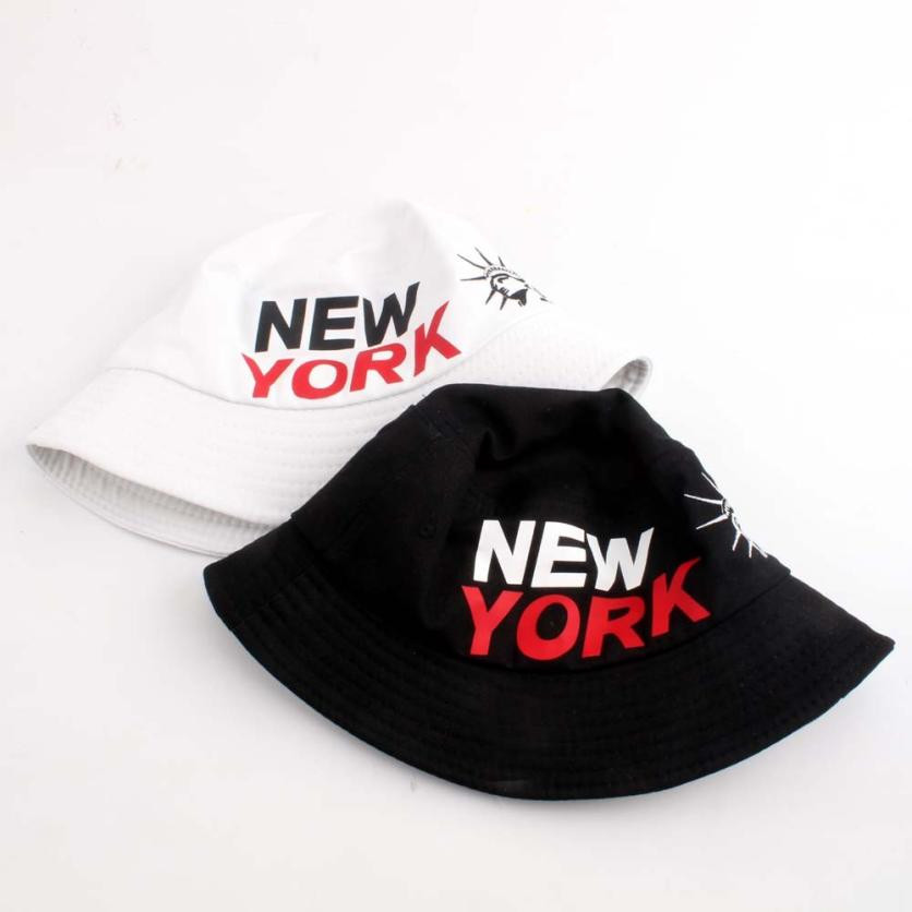 Aliexpress.com   Buy New York Sunscreen Men Women Bucket Hat Caps Mens  Fisherman Adjustable Cap Letter Print Boonie Hats Army Cotton Simple Hats  from ... 64acefe5f5