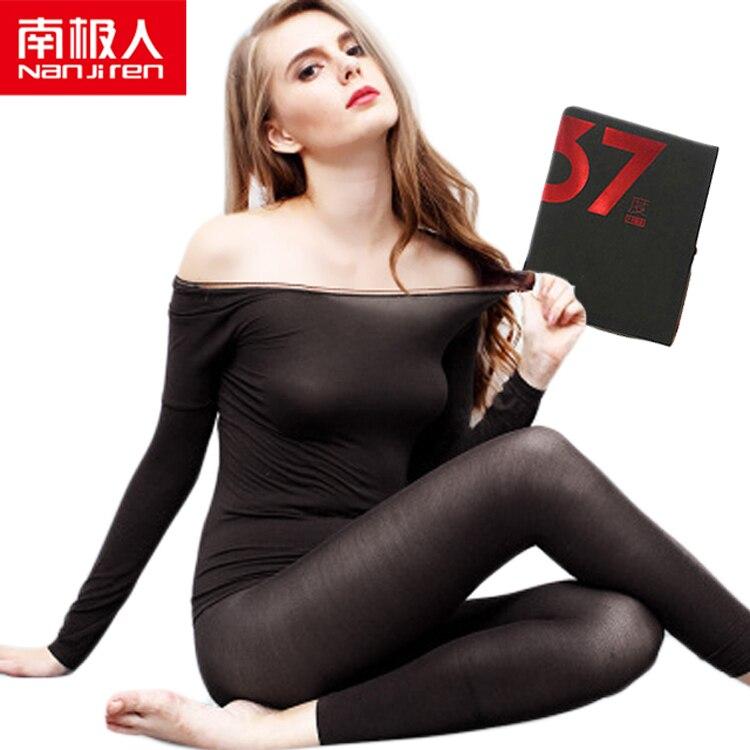 Hot Winter 37 Degree Women Slimming Shaper Women Thermal Underwear Ultrathin Heat Long Johns Elastic Seamle Top+ Pant Sleepwear
