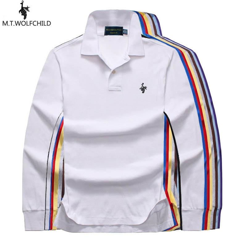 Top quality 2019 Men's long sleeve   polos   shirts XS-4XL casual solid color cotton lapel mens   polos   shirts fashion mens slim tops