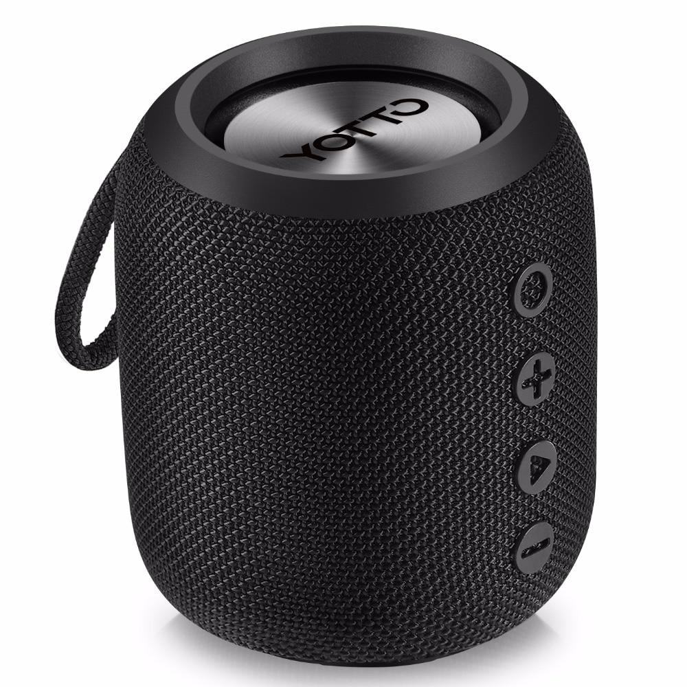 Haut-parleur Bluetooth YOTTO Portable 12W IPX6 étanche, haut-parleurs sans fil avec HiFi-Tec, câble Aux Bluetooth 4.2 FM Radio extérieure