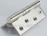 Free Shipping  4 PCS  Brushed Stainless Steel Hinges for timber door   2.5mm thickness  Easy Installation Low noise Hinges