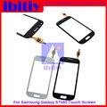 Оригинал Для Samsung Galaxy Trend GT-S7560 S7560 S7562 Touch Screen Digitizer Датчик Переднее Стекло Объектива черно-Белый