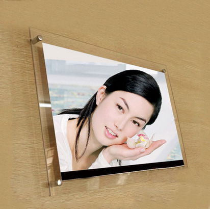 (GT4158-7inch) Cheap Wall Mounted Waterproof Photo Frame Acrylic Picture Frame Wholesale
