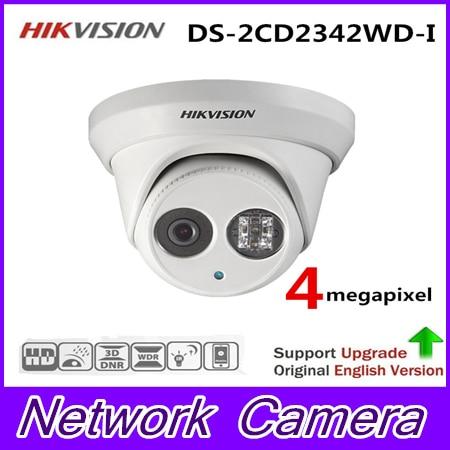 Hikvision Original English Version DS-2CD2342WD-I 4MP WDR EXIR Turret Network Camera MINI Dome IP Camera CCTV Camera cnc billet adjustable long folding brake clutch levers for yamaha fz6 fazer 04 10 fz8 2011 14 2012 2013 mt 07 mt 09 sr fz9 2014