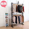 Display racks, wrought iron double wedding wedding clothes rack in the island shelf floor display shelf assembly Specials