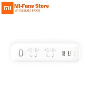 Image 1 - Yeni orijinal Xiaomi Mijia güç şeridi Soket Dönüştürücü Taşınabilir Fiş Seyahat Adaptörü Ev Ofis 5 V 2.1A 2 USB Hızlı şarj