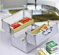 JIAN150 Aluminum Alloy Kit Box For Domestic Large Family Medicine Box Portable First Aid Box Portable