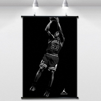 Jordan classic shooting NBA Basketball Poster Wall paintings Wall Sticker Banners Hanging Waterproof Cloth Art Decor 40X60 CM