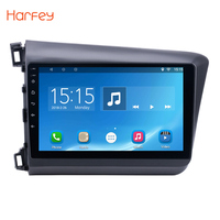 Harfey 10.1Android 6.0 Car multimedia Player GPS Navigation for 2012 Honda Civic with Bluetooth HDMulti touch Capacitive Screen