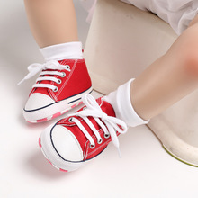 Branded Casual Canvas Star Baby Shoes Newborn Sports Sneakers First Walkers Kids Booties Children Moccasins
